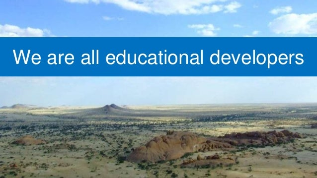 We are all educational developers