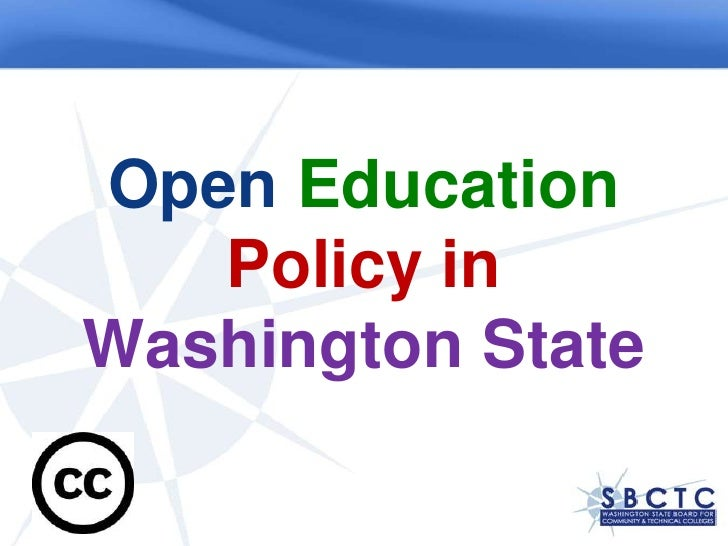 Open EducationPolicy in Washington State<br />