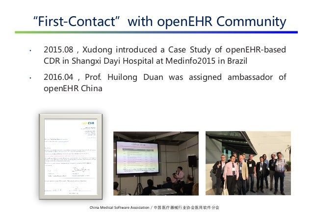 openEHR in China 2019-06 Slide 3