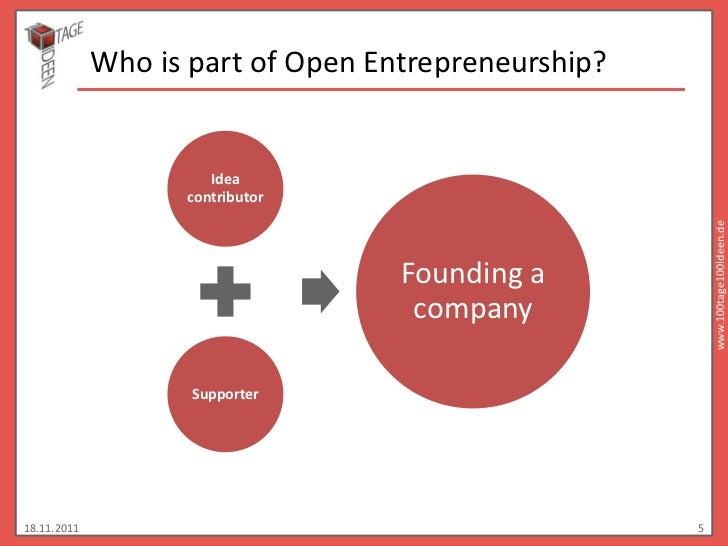 Who is part of Open Entrepreneurship?                      Idea                   contributor                             ...