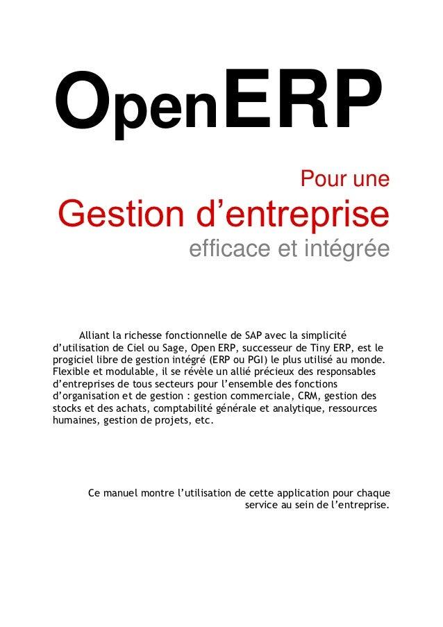 OpenERP                                                      Pour uneGestion d'entreprise                             effi...