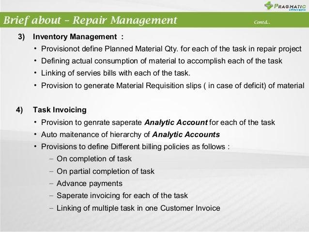 Odoo Openerp 7 Repair Management