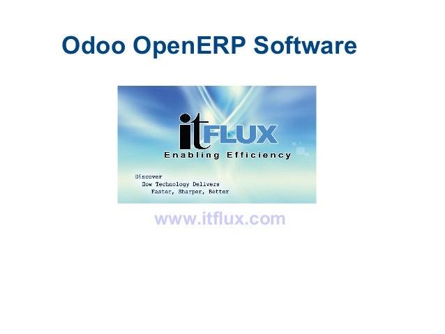 Odoo OpenERP Software www.itflux.com