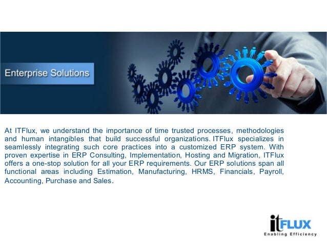At ITFlux, we understand the importance of time trusted processes, methodologies and human intangibles that build successf...