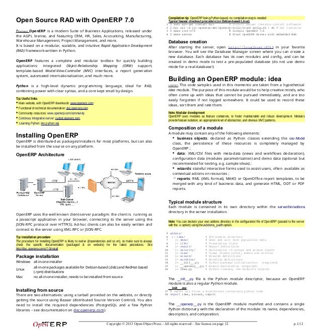 Open Source Rad With Openerp 7 0
