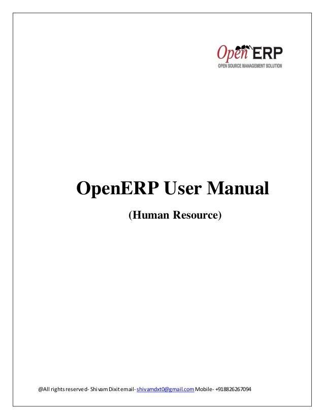 Openerp User Manual Pdf