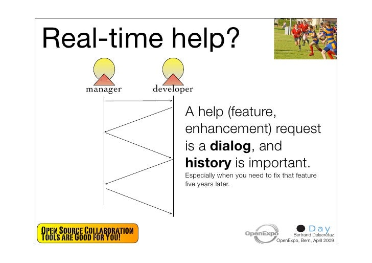 Real-time help?             manager         developer                                     A help (feature,                ...