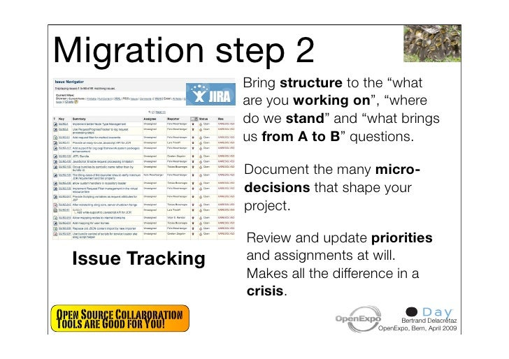 """Migration step 2                             Bring structure to the """"what                             are you working on"""",..."""