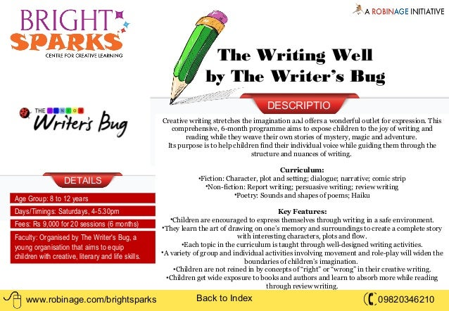 Short courses creative writing mumbai