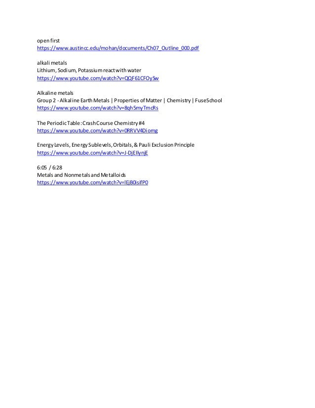 openfirst https://www.austincc.edu/mohan/documents/Ch07_Outline_000.pdf alkali metals Lithium,Sodium,Potassiumreactwithwat...