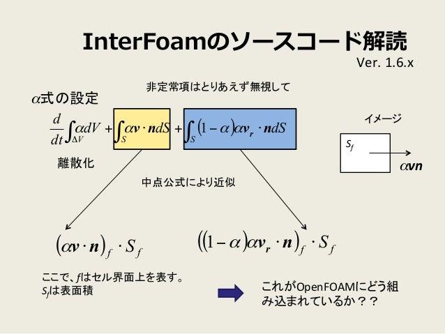 OpenFOAMにおける混相流計算