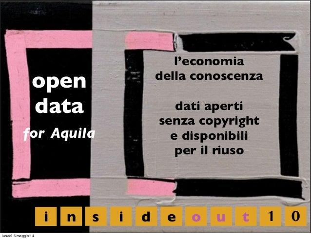 open data for Aquila l'economia della conoscenza dati aperti senza copyright e disponibili per il riuso i n s i d e o u t ...