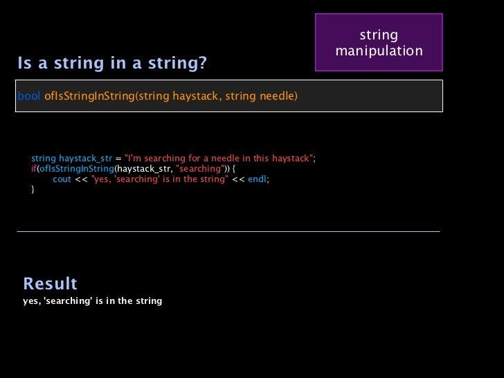 string                                                                            manipulationIs a string in a string?bool...