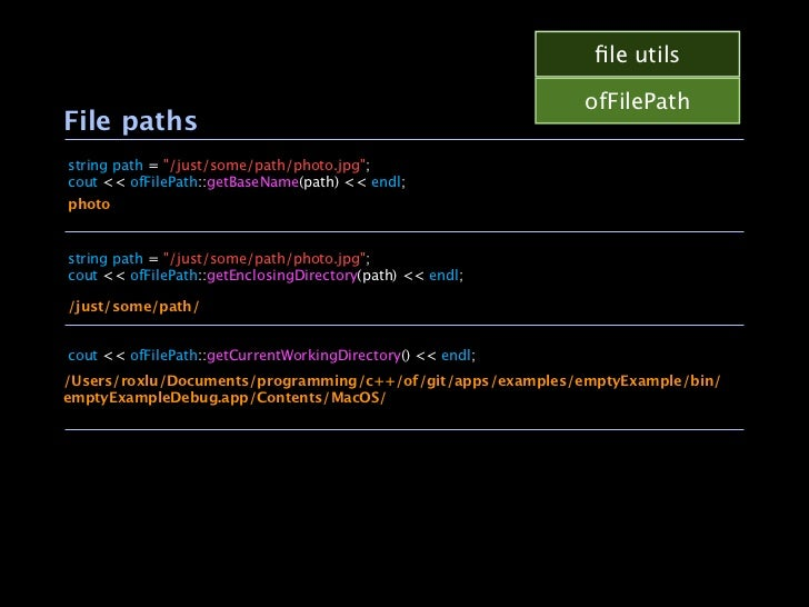 """file utils                                                             ofFilePathFile pathsstring path = """"/just/some/path/p..."""