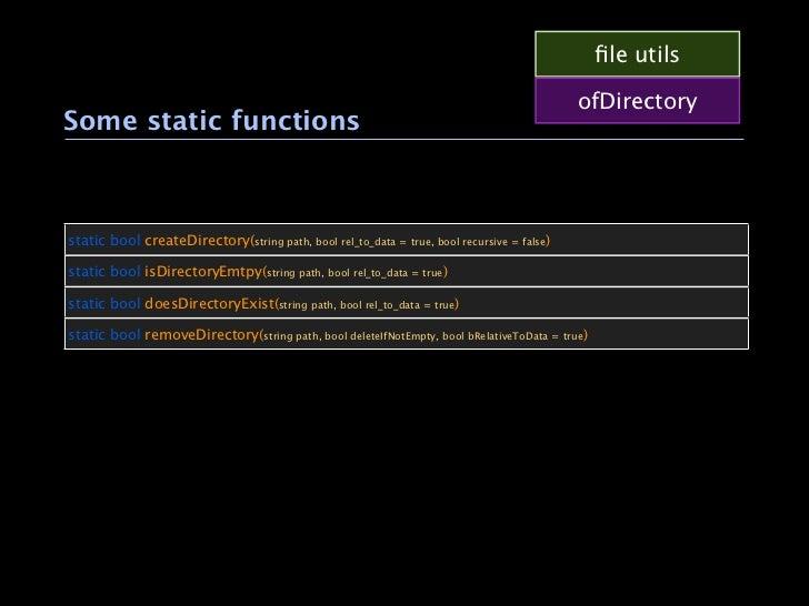 file utils                                                                                            ofDirectorySome stati...