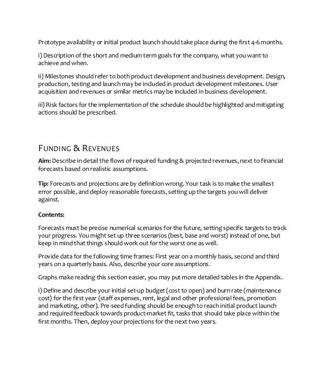 A Sample Preschool Business Plan Template