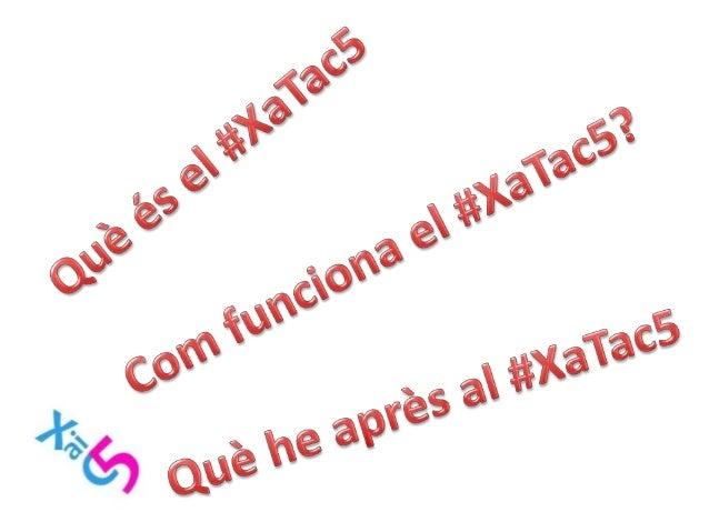 Presentació del #Xatac5 a: OpenGirona15  Slide 2