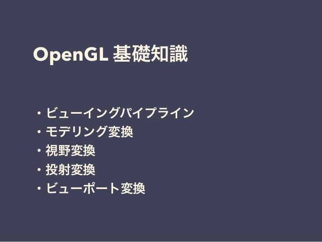 OpenGL 3DCG Slide 3