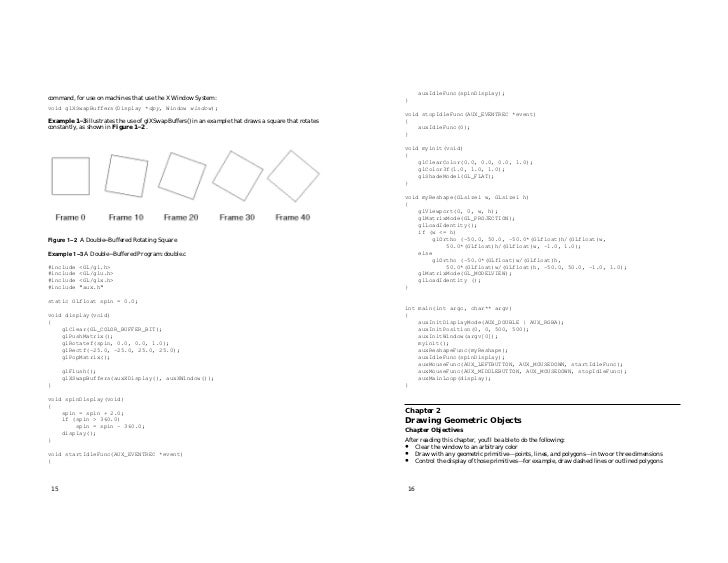 Open gl programming guide