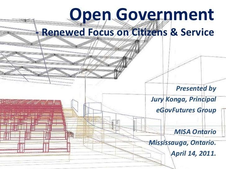 Open gov renewed citizen & service focus