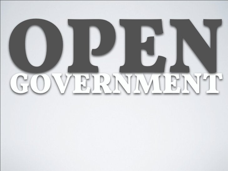 Warum Open Government?★ Mehr Transparenz !ür den Bürger★ Mehr Authentizität