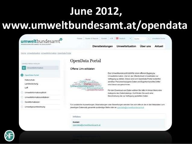June 2012,www.umweltbundesamt.at/opendata