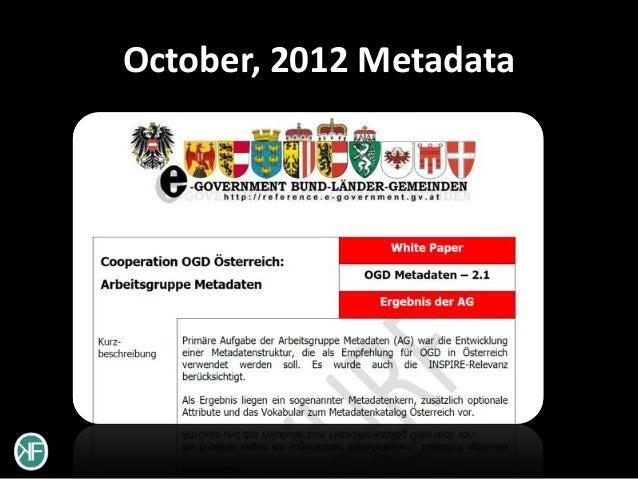 October, 2012 Metadata