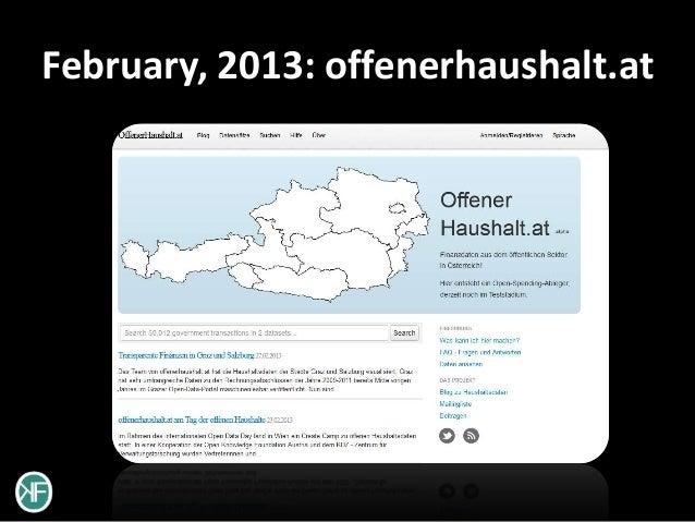 February, 2013: offenerhaushalt.at