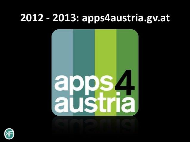 2012 - 2013: apps4austria.gv.at