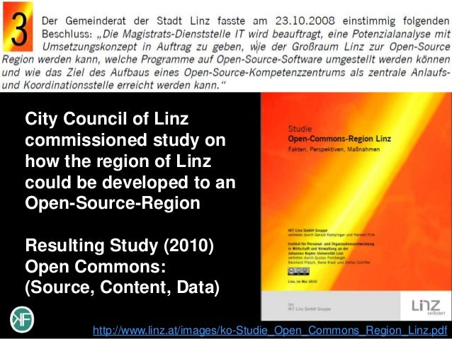 City Council of Linzcommissioned study onhow the region of Linzcould be developed to anOpen-Source-RegionResulting Study (...