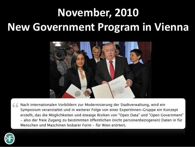 November, 2010New Government Program in Vienna