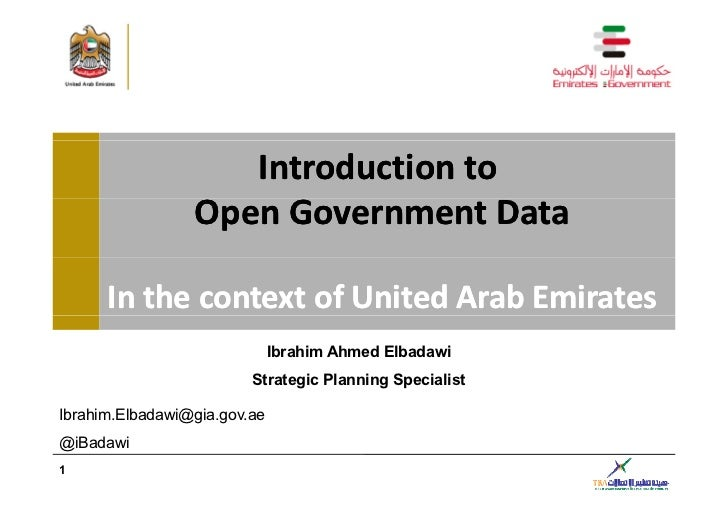 Introductionto                 OpenGovernmentData                 OpenGovernmentData      InthecontextofUnitedA...