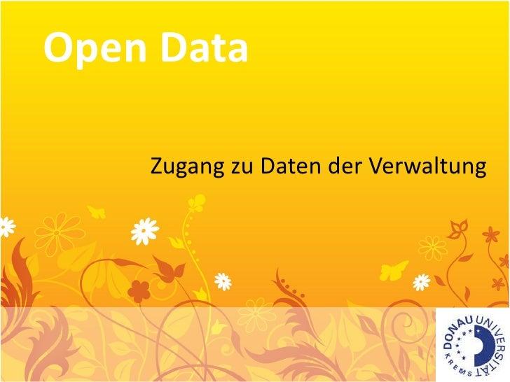 Open Data Zugang zu Daten der Verwaltung