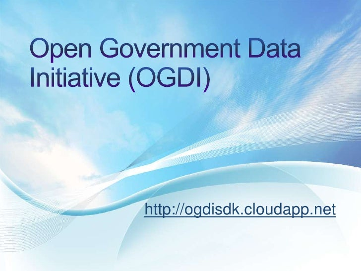 Open Government Data Initiative (OGDI)<br />http://ogdisdk.cloudapp.net<br />