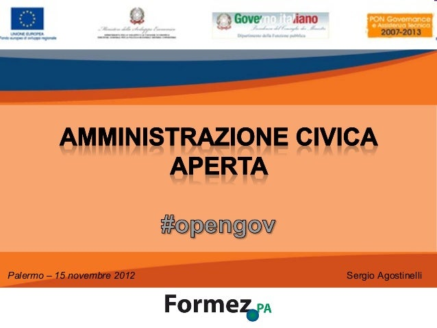 Palermo – 15 novembre 2012                    Sergio Agostinelli                                       /100               ...