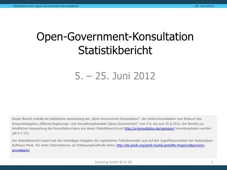 Statistikbericht Open-Government-Konsultation                                                                             ...