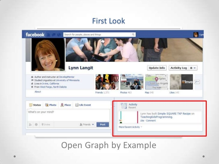 First LookOpen Graph by Example