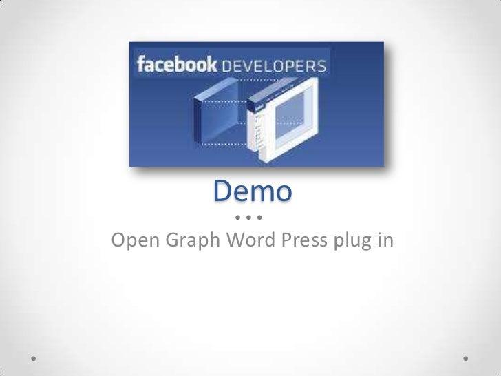 DemoOpen Graph Word Press plug in
