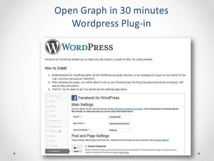 Open Graph in 30 minutes   Wordpress Plug-in