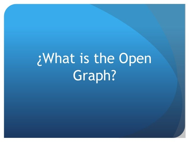 Elements of the Open Graph