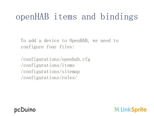 IoT With OpenHAB On PcDuino3B