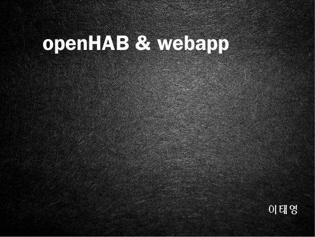 Open hab&webapp net
