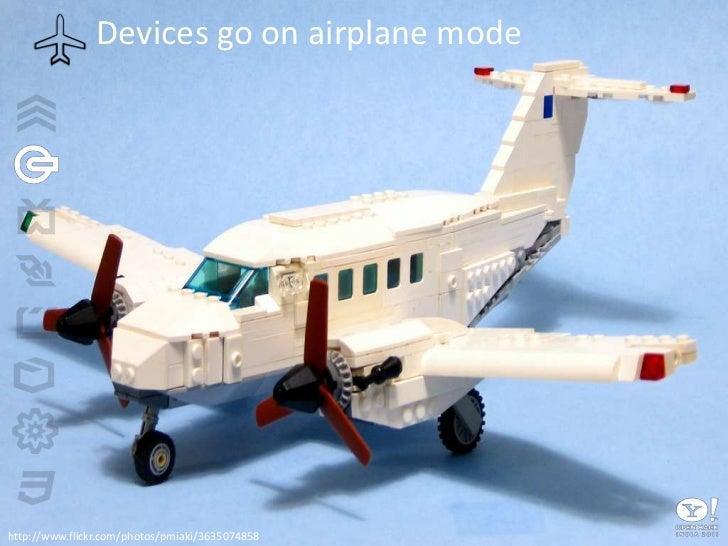 Devices go on airplane mode<br />http://www.flickr.com/photos/pmiaki/3635074858<br />
