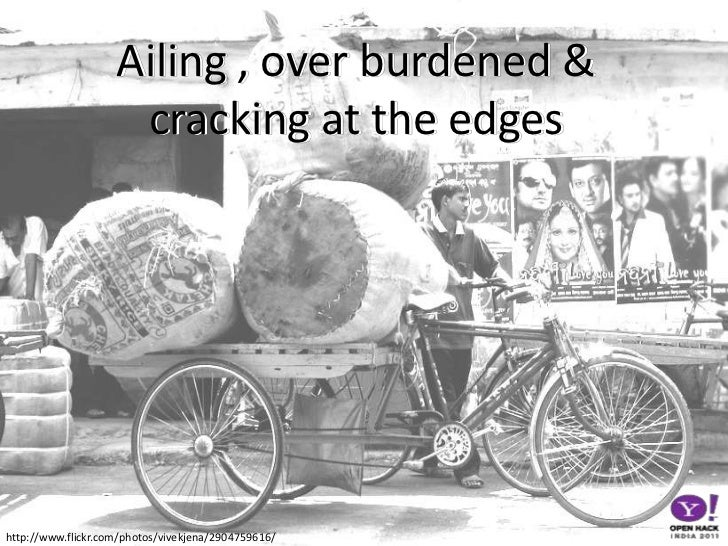 Ailing , over burdened & cracking at the edges <br />http://www.flickr.com/photos/vivekjena/2904759616/<br />