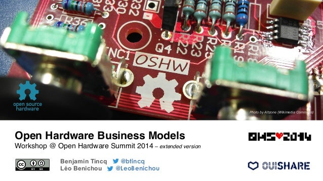 Open Hardware Business Models! Workshop @ Open Hardware Summit 2014 – extended version! Benjamin Tincq @btincq Léo Benicho...