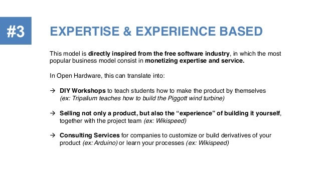 EXPERTISE & EXPERIENCE BASED!#3 This model is directly inspired from the free software industry, in which the most popular...