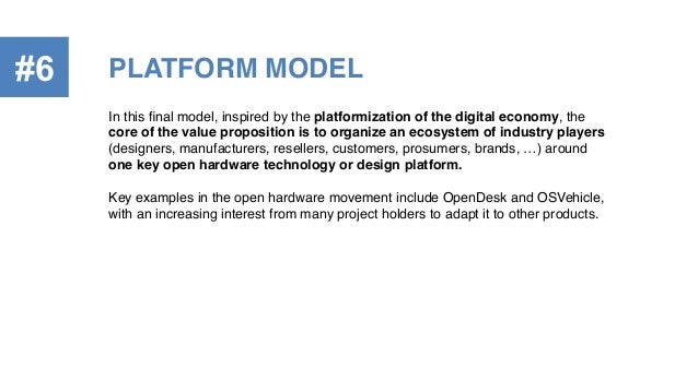 In this final model, inspired by the platformization of the digital economy, the core of the value proposition is to organi...
