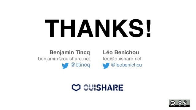 THANKS!! Benjamin Tincq ! benjamin@ouishare.net! @btincq! Léo Benichou! leo@ouishare.net! @leobenichou!