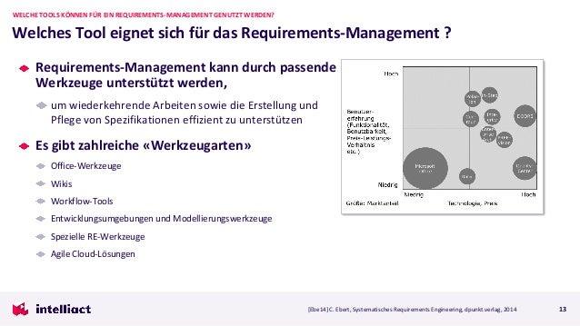 Requirements-Management kann durch passende Werkzeuge unterstützt werden, um wiederkehrende Arbeiten sowie die Erstellung ...