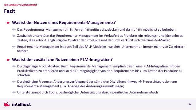 Was ist der Nutzen eines Requirements-Managements? Das Requirements-Management hilft, Fehler frühzeitig aufzudecken und da...